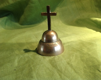 Vintage Brass Bell Relic Fredericton N.B. Catholic Church Fire 1912