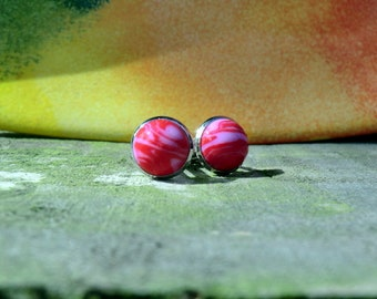 Red Cuff Links (polymer clay)