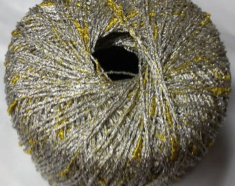 5 balls lurex pure fantasy / gold and silver / made in FRANCE