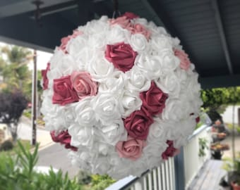 Wedding Pinata Pomander Guest Book Alternative White Shades of Pink Blush Pink