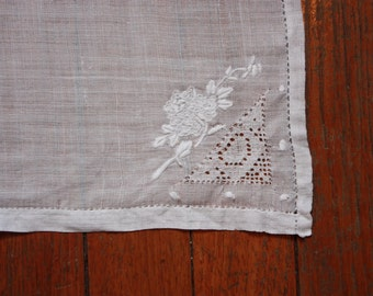 12 Vintage Embroidered Paper Thin Napkins