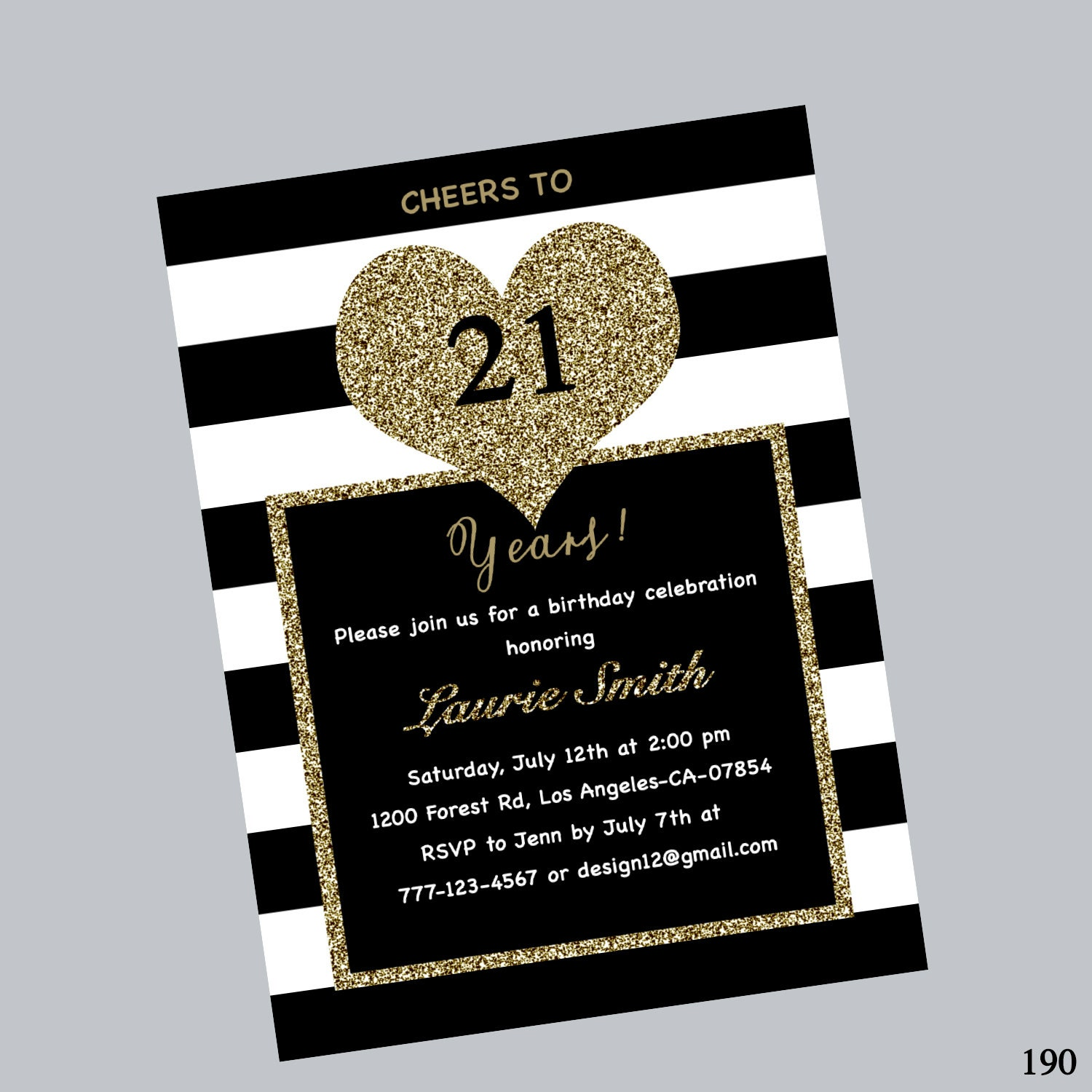 21st birthday invitation twenty one birthday invite 21st