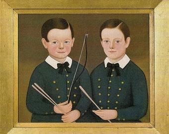 Folk Art Portraits - Choice of Three Nursery Portraits - Buy a set - buy single - gift for nursery - framable digital portrait