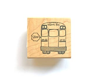 School Bus Stamp