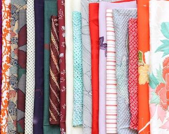 kimono textile, Japanese fabric set, remnant, kimono, kimono fabric, shibori, fabric set, Japan, 20 pieces /5