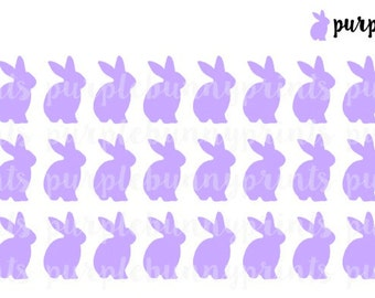 Purple Bunny Icons // Planner Stickers!