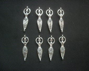 6 Goddess Connector Charms 40mm