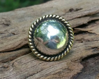 Large button ring. Sterling silver ring. Concho ring. Dome ring. Silver rings. Sterling silver jewelry. Boho jewelry. Southwestern rings