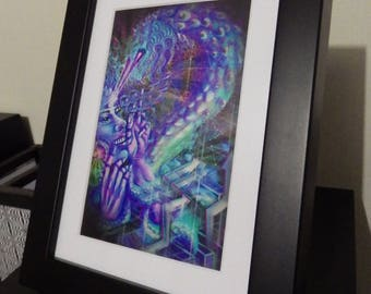 "Photo Paper Print ""Ride the Quetzalcoatl"" (frame in option)"