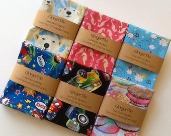 Lunchbox Napkins, Kids Cloth Napkins, Small Napkins for Kids, Set of 5