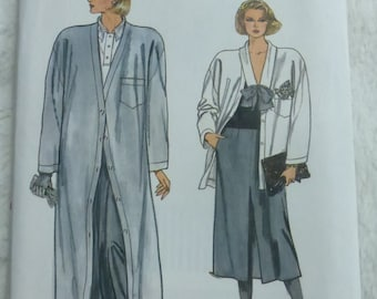 Vintage 1980s Very Easy Vogue 9201 Misses Coat and Separates Multi Size 12-16 Factory Fold
