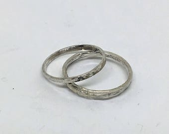 1.5mm Hammered Stacking RIng