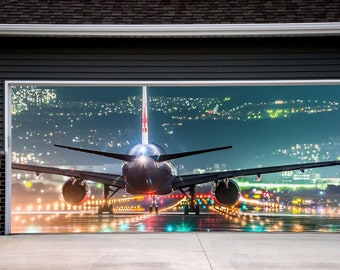 Banner Full Color Fo House, Billboard 3D Effect Aircraft Door Covers,  Inside Outside Double