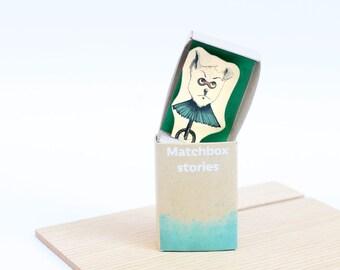 Matchbox art, Matchbox craft, Paper diorama, Matchbox diorama, Message box , Personalized message, Paper craft, Gift idea, Friend gift