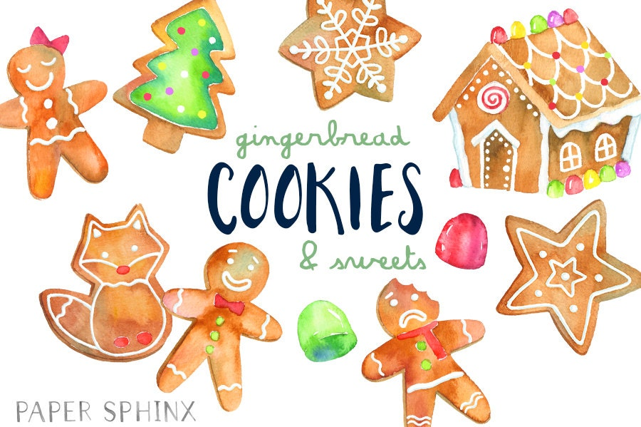 christmas cookies clipart gingerbread man clip art holiday rh etsy com gingerbread house clipart coloring gingerbread house clipart black and white