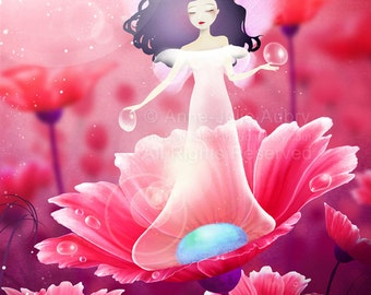 Dew Faery - Deluxe Edition Print - Whimsical Art
