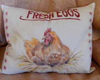 Fresh Eggs Muslin Pillow