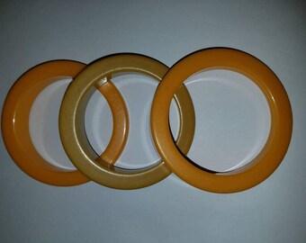Set of 3 Bakelite Bracelet Bangles-Matched
