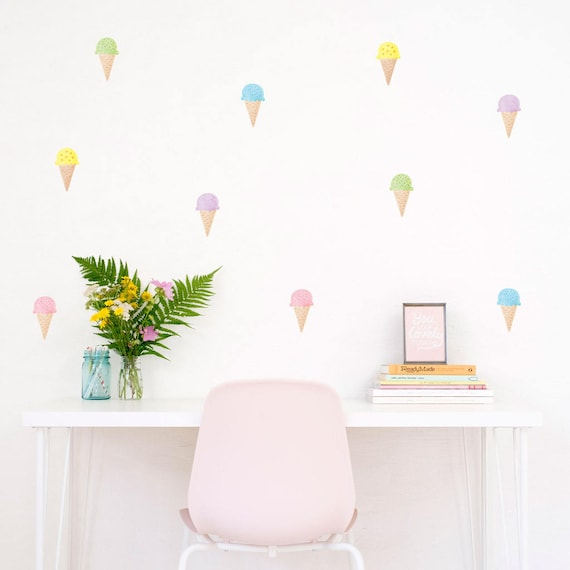 Ice Cream Wall Decal Ice Cream Sticker Ice Cream Home