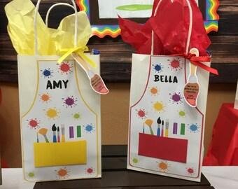 12 Art party Favor Bags, Art party Treat bags