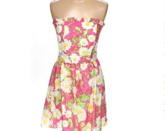 "SOLD**Lilly Pulitzer Dress ""Hotty Pink Full Sun"" , Strapless Dress Size 8, NWT Lilly Dress"