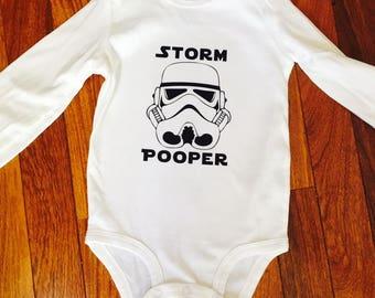 Storm Pooper onesie, the dark side onesie, star wars onesie