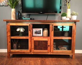Reclaimed Barn Wood Entertainment Center