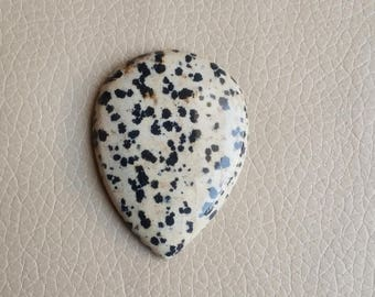 Natural Dalmatian Jasper Gemstone, Beautiful Pendant Dalmatian Jasper Stone, Dalmatian Jasper Weight 95 Carat and Size 51x38x8 MM Approx.