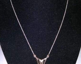 Spiked Triangular Necklace