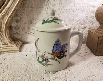 Japanese tea mug with lid