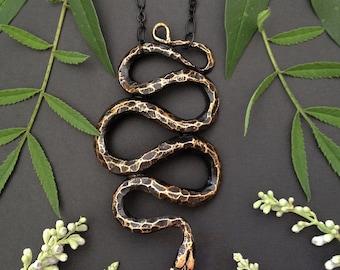Bronze Snake Pendant
