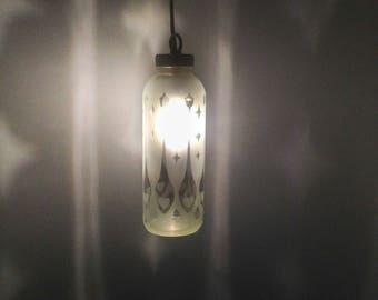 Pinstripe Heart Spoon Bottle Lantern