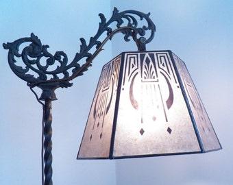 Mica Lamp Shade Replacement for your Antique Vintage Bridge Floor Lamp All Black Design