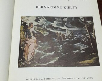 Masters Of Painting by Bernardine Kielty, Vintage Art Book, Lithographed Illustrations, Antique Art Table Book, Interior Design Stage Book