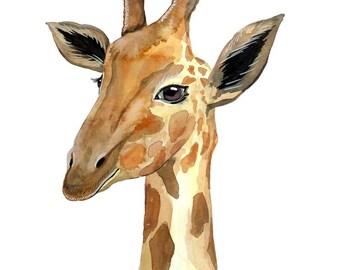 Giraffe Print - Watercolour Painting