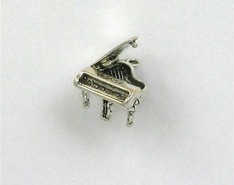 Sterling Silver 3-D Movable Piano Charm