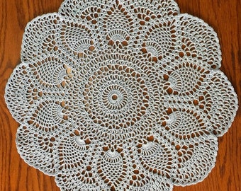 "17"" Blue Pineapple Doily"