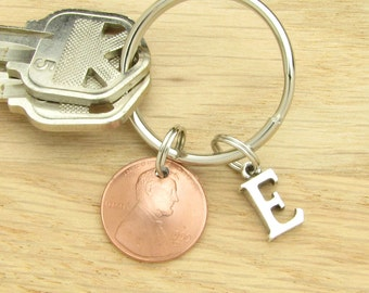 Penny Keychain - Choose the Year - 1954-2018 - Birthday or Anniversary Gift Coin Jewelry