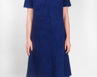 Blue Cord Tunic Dress