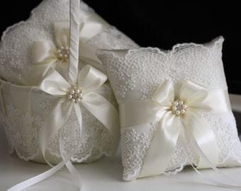 Ring Bearer Pillow Alternative Ring Bearer Bible White Ivory