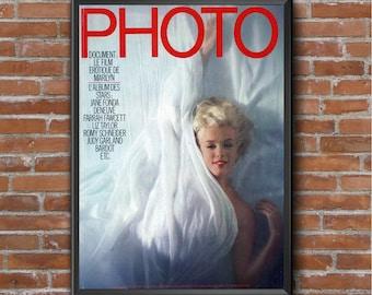 Vintage Marlyn Monroe photo magazine cover poster print