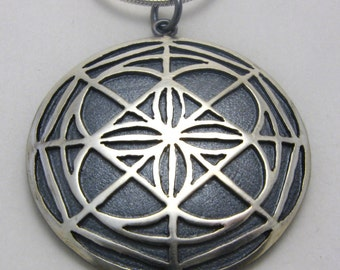 Universal Pattern Pendant Kenpo Karate made in sterling silver by Cristina Hurley