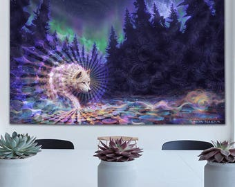 Spirt Wolf Tapestry by Simon Haiduk