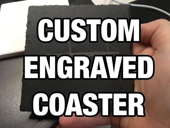 Laser Engraved Coaster Set