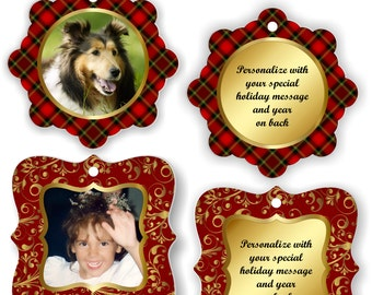Keepsake Ornaments, Personalized, Photo Ornaments, Christmas Ornament, Pet Memorial, Keepsake Ornament, Memorial Keepsake, Ornament -SET1