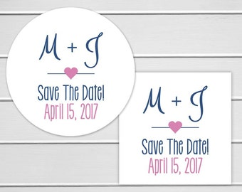 Save The Date Stickers, Wedding Stickers, Wedding Favor Stickers, Envelope Seals (#153)