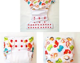 O/S pocket diaper with wrap.