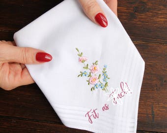 Fit as F*ck Handkerchief, Fit as F*ck Gift, Funny Gift for Her, Funny Handkerchief, Swear Gift, Rude Gift, Funny Friend Gift,