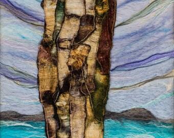 The Storyteller. LIMITED EDITION Giclée Print. Standing Stone, felt, fibre