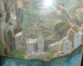 Tatiana Loguine Original Painting 26 x 28, PA4651, Shipping Not Free!!!